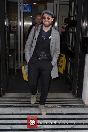 Ricky Wilson - Ricky Wilson pictured arriving at the Radio 2 studio at BBC Portland Place - London, United Kingdom...
