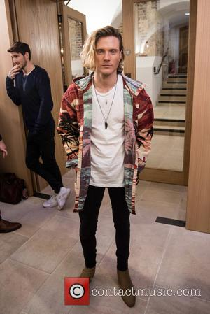 Dougie Poynter - LCM a/w 2016: Joshua Kane - catwalk show held at Christ Church Spitalfields. - London, United Kingdom - Friday...