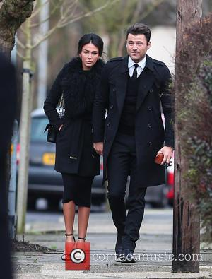 Michelle Keegan , Mark Wright - Family, friends and The Only Way Is Essex cast members gather outside the house...