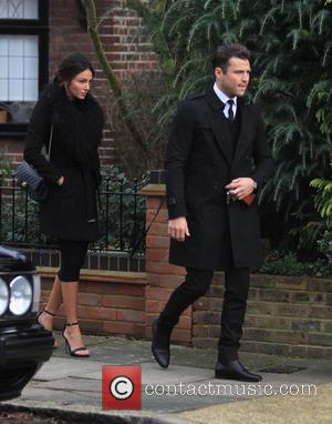 Mark Wright , Michelle Keegan - Family, friends and The Only Way Is Essex cast members gather outside the house...