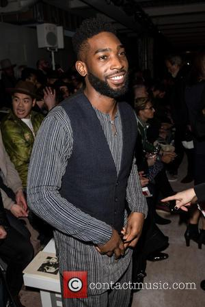 Tinie Tempah - London Collections: Men A/W 2016 - Oliver Spencer - Front row at 180 Strand - London, United...