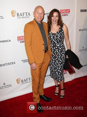 Patrick Stewart , Sunny Ozell - BAFTA Los Angeles Awards Season Tea at The Four Season Los Angeles - Arrivals...