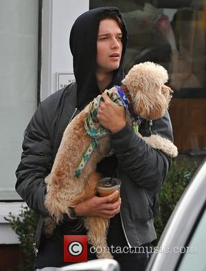 patrick schwarzenegger - Patrick Schwarzenegger leaves a restaurant with his dog after having lunch with friends - Los Angeles, California,...