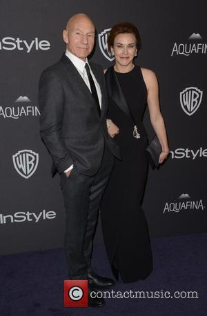 Patrick Stewart , Sunny Ozell - InStyle and Warner Bros Golden Globes after party held at the Beverly Hilton Hotel...