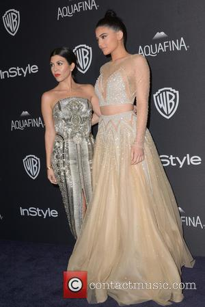 Kourtney Kardashian , Kylie Jenner - InStyle and Warner Bros 73rd Annual Golden Globes Post-Party at the Beverly Hilton Hotel...