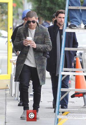 Nick Jonas - The Jonas Brothers out and about getting a coffee with Wilmer Valderrama - Los Angeles - Monday...