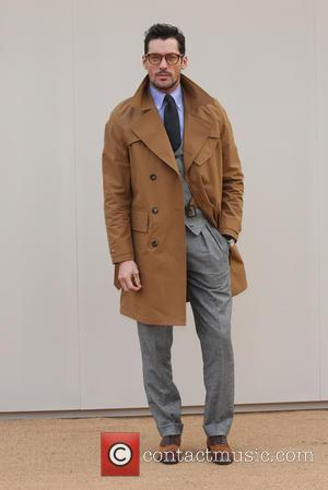 David Gandy - London Collections Men Autumn/Winter 2016 - Burberry - Arrivals - London, United Kingdom - Monday 11th January...