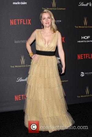 Gillian Anderson - The Weinstein Company & Netflix 2016 Golden Globe After Party held at the Beverly Hilton Hotel at...