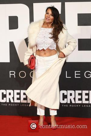 Lizzie Cundy - Creed The Rocky Legacy UK premiere held at the Empire - Arrivals - London, United Kingdom -...