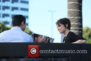 Lauren Cohan - Lauren Cohan seen at Universal studios where she was interviewed by Mario Lopez for television show Extra...