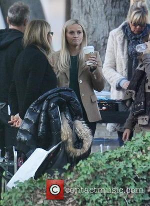 Reese Witherspoon - Actress Shailene Woodley and co star Reese Witherspoon spotted on the set of