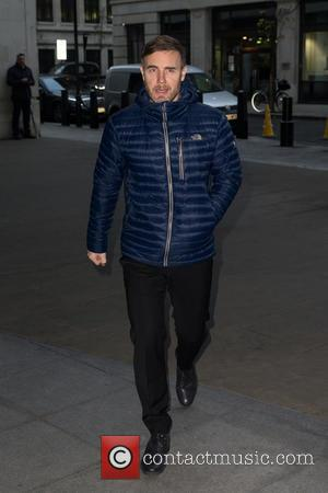 Gary Barlow - Gary Barlow pictured arriving at the Radio 1 studios at BBC Portland Place - London, United Kingdom...