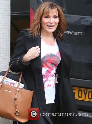 Lorraine Kelly - Lorraine Kelly seen wearing a David Bowie T shirt outside ITV Studios - London, United Kingdom -...