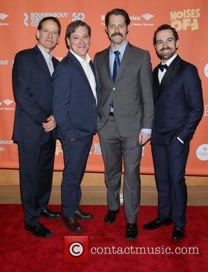 Campbell Scott, Jeremy Shamos, David Furr , Rob McClure - Opening night party for Noises Off at the American Airlines...