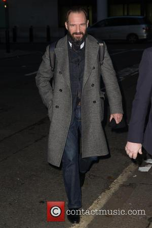 Ralph Fiennes - Ralph Fiennes pictured arriving at the Radio 1 studios at BBC Western House - London, United Kingdom...