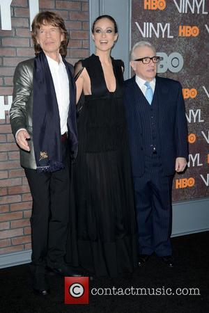 Mick Jagger, Olivia Wilde and Martin Scorsese