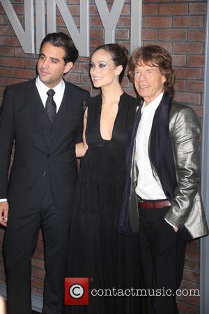 Mick Jagger, Olivia Wilde and Bobby Cannavale