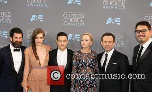 Carly Chaikin, Sam Esmail, Rami Malek, Portia Doubleday, Chad Hamilton and Christian Slater