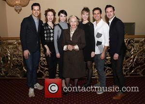 Robert Fairchild, Veanne Cox, Leanne Cope, Leslie Caron, Jill Paice, Brandon Uranowitz and Max Von Essen