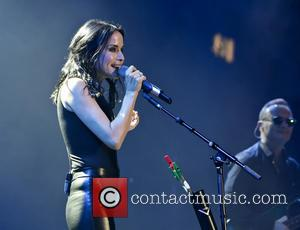 Andrea Corr - The Corrs performing live on stage at the Genting Arena, Birmingham - Birmingham, United Kingdom - Tuesday...