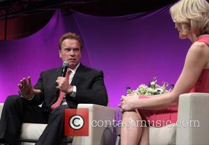Arnold Schwarzenegger and Jenni Falconer