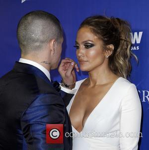 Jennifer Lopez , Casper Smart - Jennifer Lopez Official After Party Red Carpet at MR CHOW at Caesars Palace at...