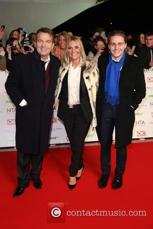Bradley Walsh, Wife Donna Derby and Son Barney Walsh