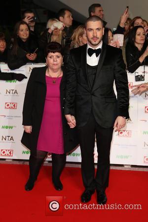 Shayne Ward with his Mum - The National Television Awards 2016 (NTA's) held at the O2 Arena - Arrivals at...