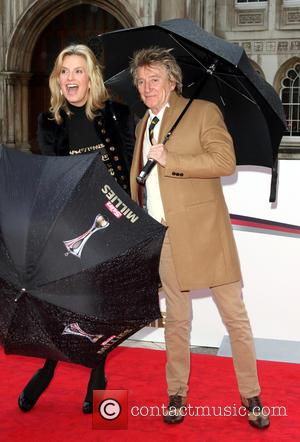 Penny Lancaster , Rod Stewart - The Sun Military Awards 2016 (Millies) held at the Guildhall - Arrivals at Guildhall,...