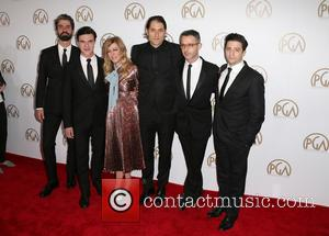 Hamish Linklater, Finn Wittrock, Dede Gardner, Jeremy Kleiner, Jeremy Strong and John Magaro