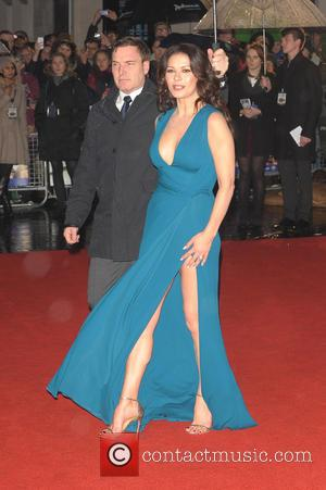 Catherine Zeta-Jones - Dad's Army film premiere held at Odeon - London, United Kingdom - Tuesday 26th January 2016