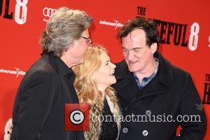 Kurt Russell, Jennifer Jason Leigh and Quentin Tarantino