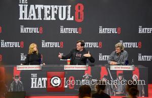 Jennifer Jason Leigh, Quentin Tarantino and Kurt Russell