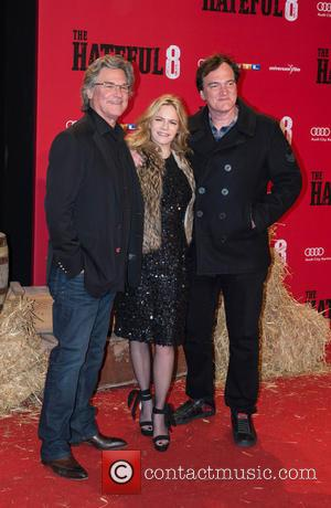 Kurt Russel, Jennifer Jason Leigh and Quentin Tarantino