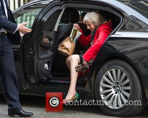 Theresa May MP , Secretary of State for the Home Department - Cabinet Ministers arrive and depart from the weekly...