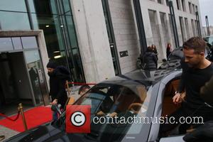 Ryan Reynolds - EXCLUSIVE - PreisabspracheAfter Ryan Reynolds was a guest at Sat.1 he was seen driving a Ferrari to...