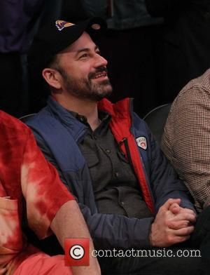 Jimmy Kimmel - Celebrities watch the NBA basketball between Chicago Bulls and Los Angeles Lakers at the Staples Center ....