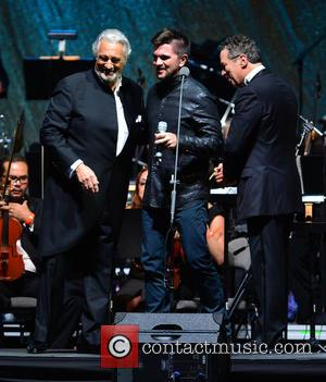 Placido Domingo, Juanes and Eugene Kohn