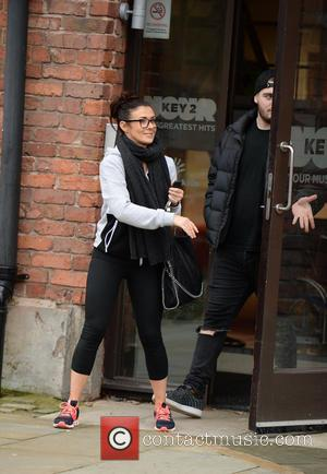 Kym Marsh - Kym Marsh and her Son David leave Key 103 Radio Station  after co presenting the breakfast...
