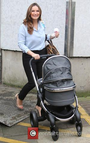 Sam Faiers , Paul Tony Knightley - Sam Faiers outside ITV Studios with her baby son - London, United Kingdom...