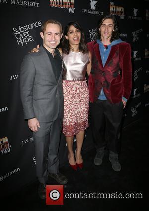 Caine Sinclair, Freida Pinto and William Spencer