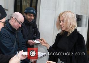 Pixie Lott - Pixie Lott pictured arriving at the Radio 2 studio at BBC Western House - London, United Kingdom...