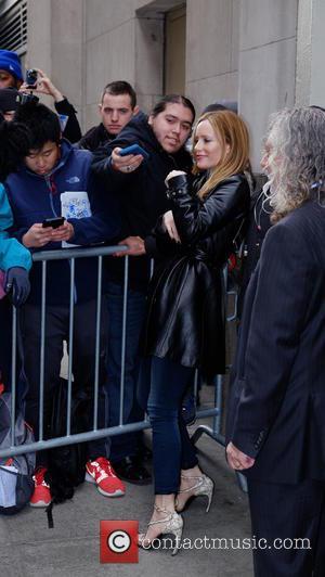 Leslie Mann - Celebrities leaving The Huffington Post - Manhattan, New York, United States - Friday 5th February 2016
