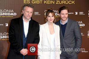 Mikael Nyqvist, Emma Watson and Daniel Bruehl
