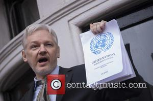 Julian Assange - Julian Assange address the press at the Embassy of Ecuador in London where he has sought refuge....