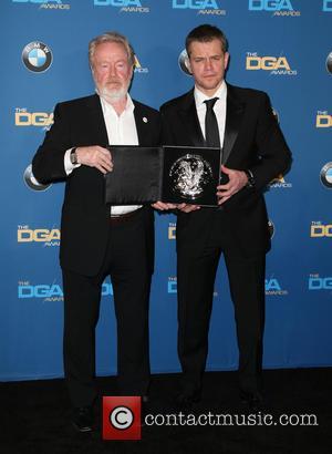 Ridley Scott and Matt Damon
