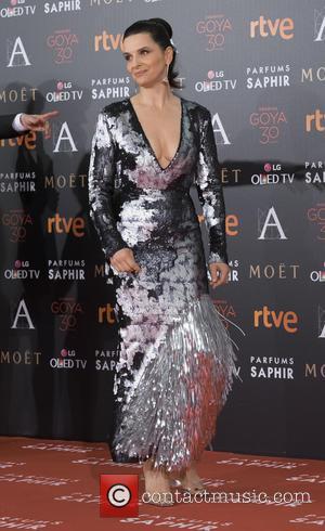 Juliette Binoche - Goya Cinema Awards 2016 at Madrid Marriott Auditorium - Arrivals - Madrid, Spain - Saturday 6th February...