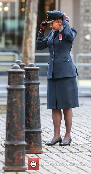 Carol Vorderman - Carol Vorderman attends a service to commemorate the 75th anniversary of the formation of the Air Training...