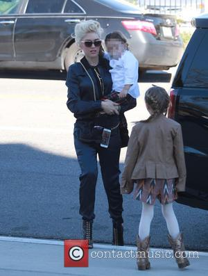 Gwen Stefani , Apollo Rossdale - Gwen Stefani takes her children to a Sunday church service in North Hollywood at...