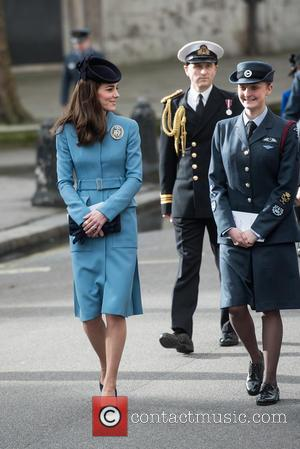 The Duchess of Cambridge - 75th anniversary of the RAF Cadets service at the RAF St. Clement Danes chapel. -...